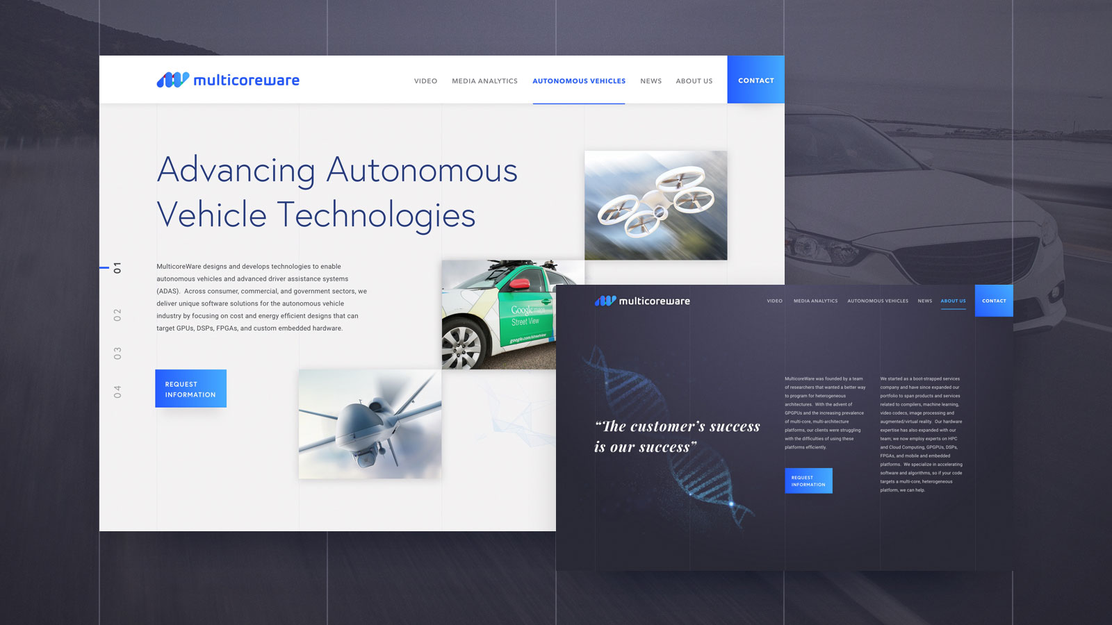 Full branding and art direction and UX Design